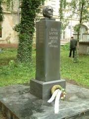 Statuia lui Bela Bartok in Vinogradov(Ucraina)