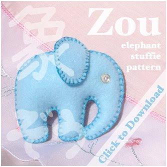 Free Stuffed Animal Pillow Patterns : Zou Elefante Free Sewing Pattern from the Stuffed animals and softies Free Sewing Patterns Category