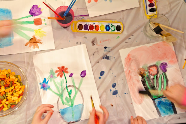 Art Party Watercolor Painting