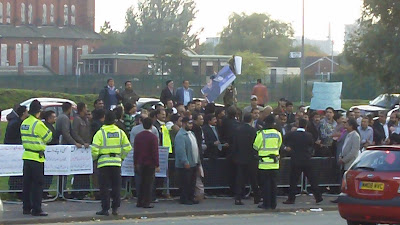 Pakistan Muslim League activists protesting against General Musharraf in Manchester 2010