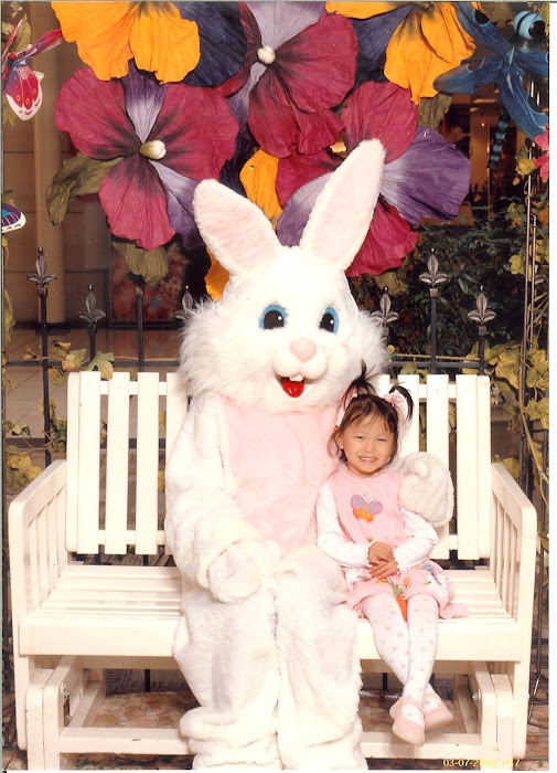 Alana with the Easter Bunny