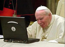 Pope John Paul II on a Laptop