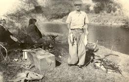 Jacinto Richard, de pesca.