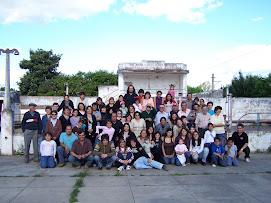Familia Buratti reunida en Laguna Paiva