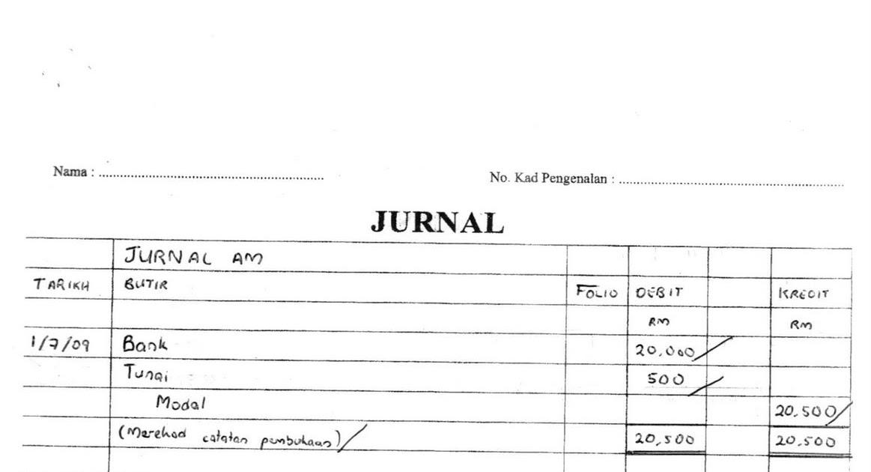 Contoh Jawapan Folio Akaun Tingkatan 5 - Rasmi H