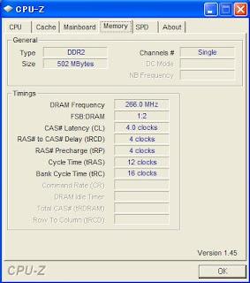 CPUzのメモリ画面