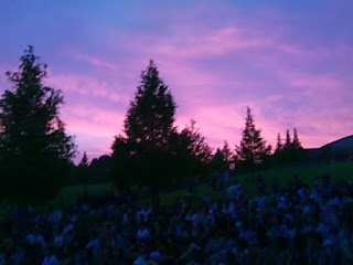 鹿深夢の森の夕焼け
