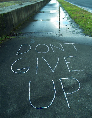 Motivational Wallpaper: Don't Give Up on road (photograph)