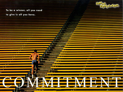 Motivational Wallpaper on Commitment : To be a winner all you need