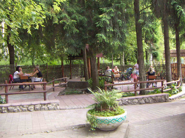 The Lemkivskyj Dvir Restaurant in Ternopil, West Ukraine