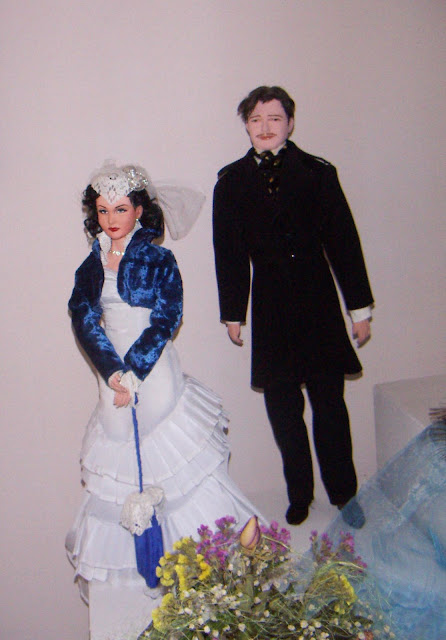 Dolls of Vivien Leigh and Clark Gable, made by Natalia Basarab from Ternopil, Ukraine