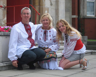 Family in Ukrainian outfit (liverpool, England)