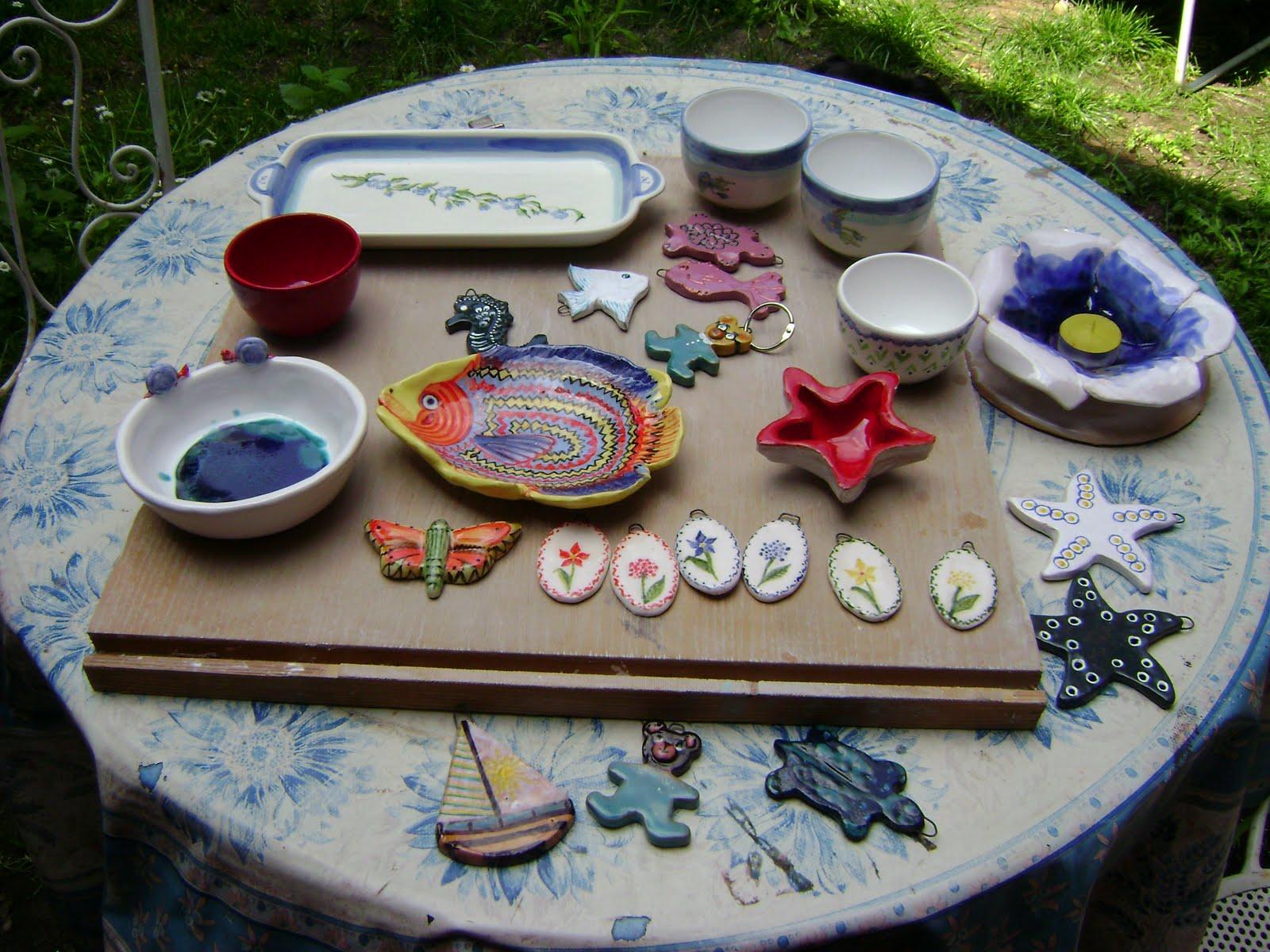 Di tutto un po 39 ceramica veduta su oggetti terminati for Oggetti da appendere