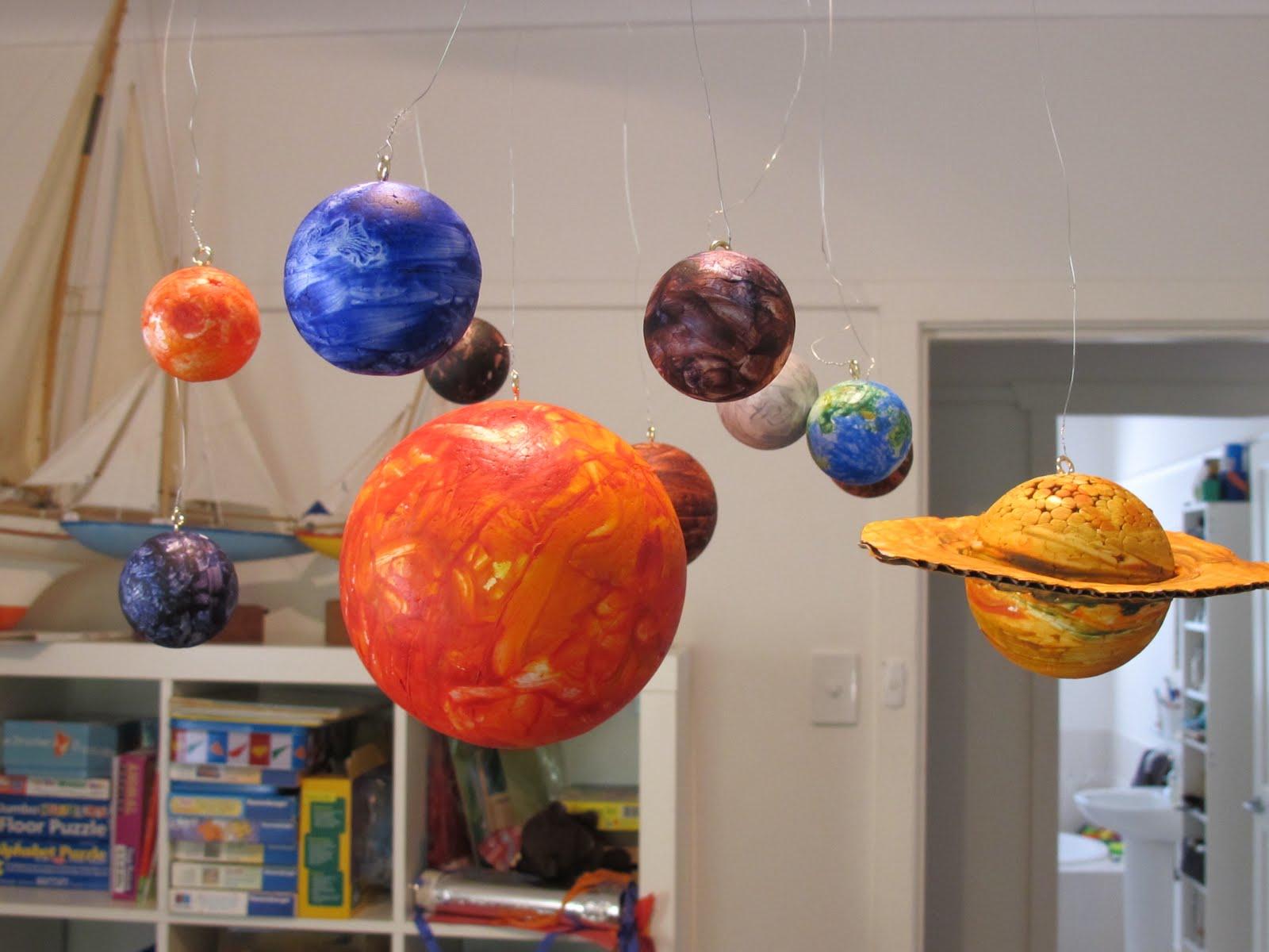 Materials: 10 styrofoam balls (1 very big for the Sun, 2 ...
