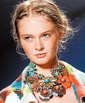 Fabulous Designer Necklace from Vintage Enamel Flower Pins