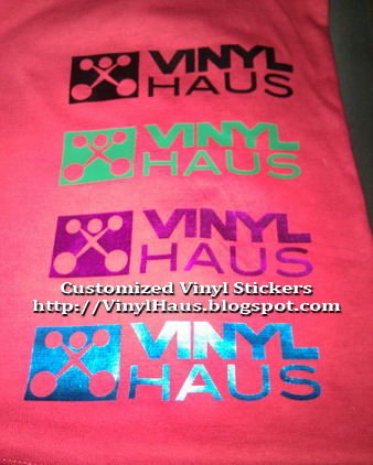 Sample cut out vinyl transfer printing for t shirts