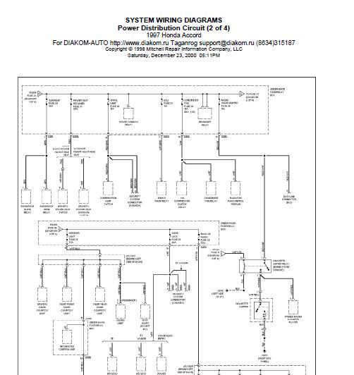 2003 Honda Civic Ignition Wiring Diagram Rockford P2 Repair-manuals: 1997 Accord