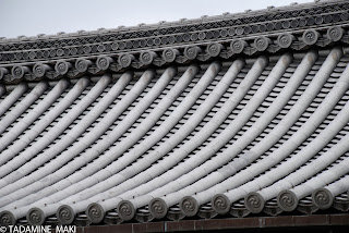 Tile roof at Nishi-Honganji Temple, in Kyoto