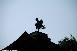 A phenix on the top of roof at Ginkakuji Temple, in Kyoto