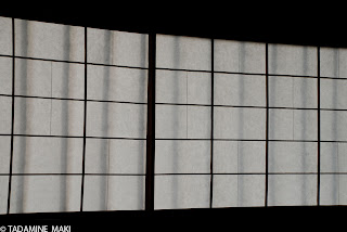 Shoji, thin paper on the window, at Koto-in Daitokuji Temple, in Kyoto
