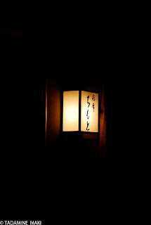 Modest light at the entrance of a house, Kyoto, part 2