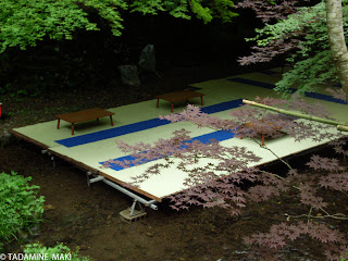 Temporary floor above a river, Kyoto