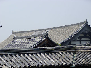 Some layers of tile roofs at Tofukuji Temple, in Kyoto