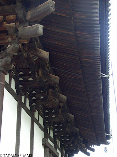 Elaborate details under the roofs, at Kofukuji Temple in Nara