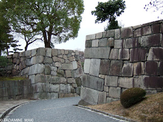 Stone walls of Nijo Castle in Kyoto