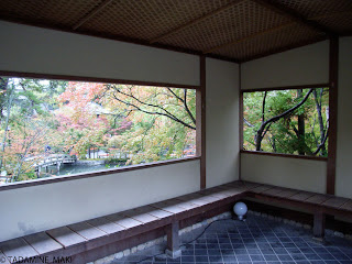 The opening as a frame of living picture, at Eikando Temple at Kyoto