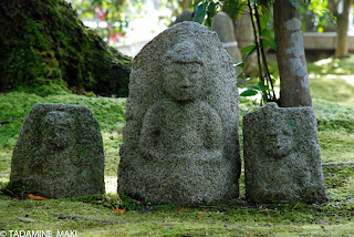 small Buddhist statues at Atago-Nenbutsuji Temple, in Kyoto