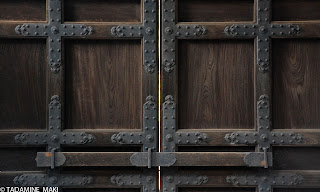Details of a gate at Nanzenji Temple, in Kyoto