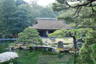 An old house with a garden, at Katsura Imperial Villa, in Kyoto