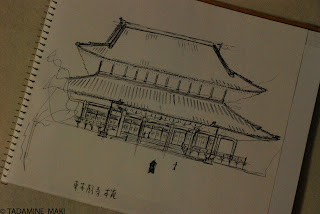 From my sketchbook, at Higashi Honganji Temple, in Kyoto