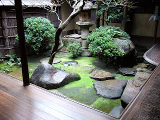 The inner garden of a house, at Sumiya, in Kyoto