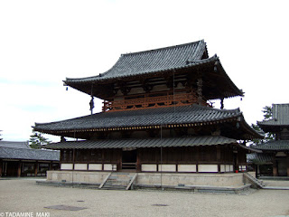 One of the main buildings at Horyuji Temple, in Nara