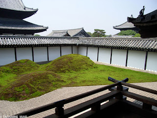 A series of tile roofs, at Tofukuji Temple, in Kyoto