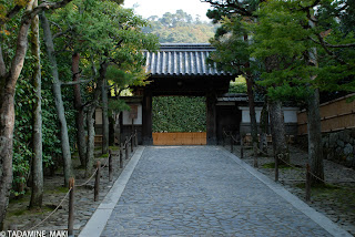 The approach to the entrance of Ginkakuji Temple, in Kyoto