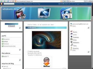 template1 Template inspirado no windowns Vista para blogger
