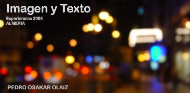 Imagen y Texto. Almería 2008