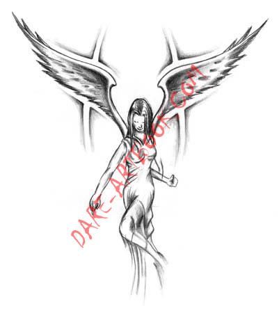 angel tattoo design 2