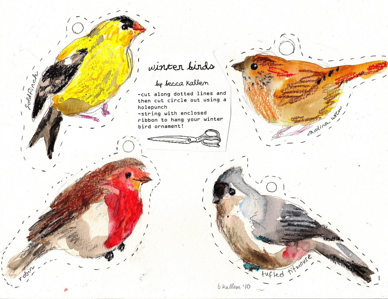 Rebecca S Misc Winter Birds