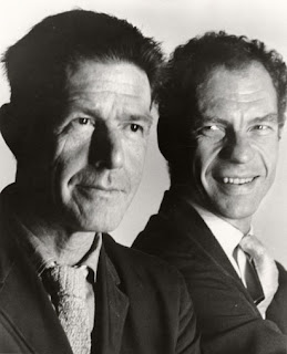 photo of John Cage and Merce Cunningham