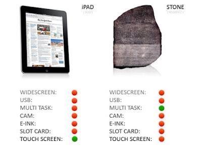Diferencias entre un ipad y una piedra