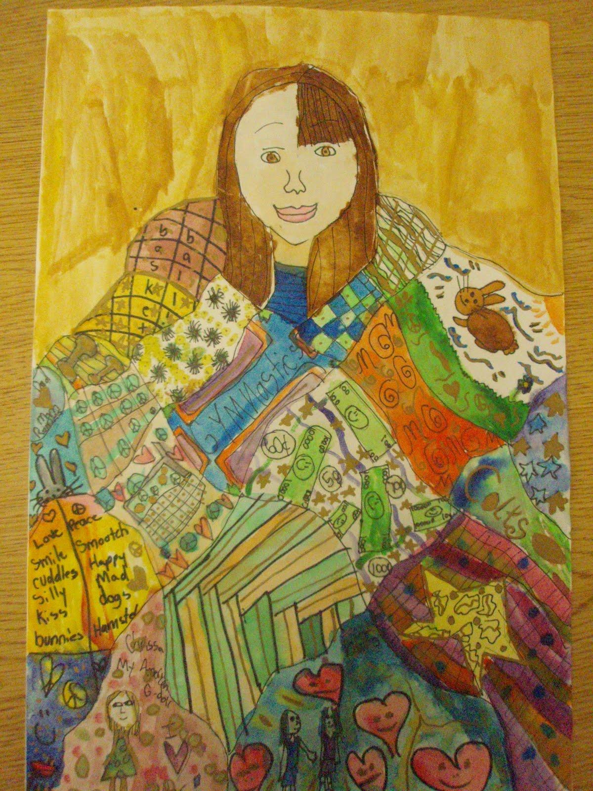 Ms Matsuoka S Art Room 4th Grade Gustav Klimt Inspired