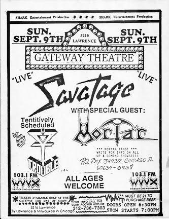 Twin Cities Metal Old Savatage Tour Memorabilia