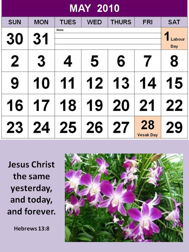 Plytomurli May Calendar 2011 With Holidays