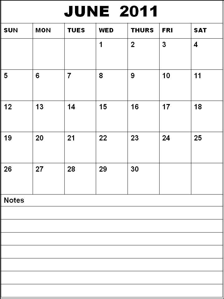 june july calendar 2011 - photo #4