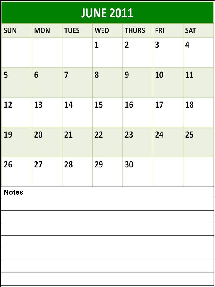 june july calendar 2011 - photo #8