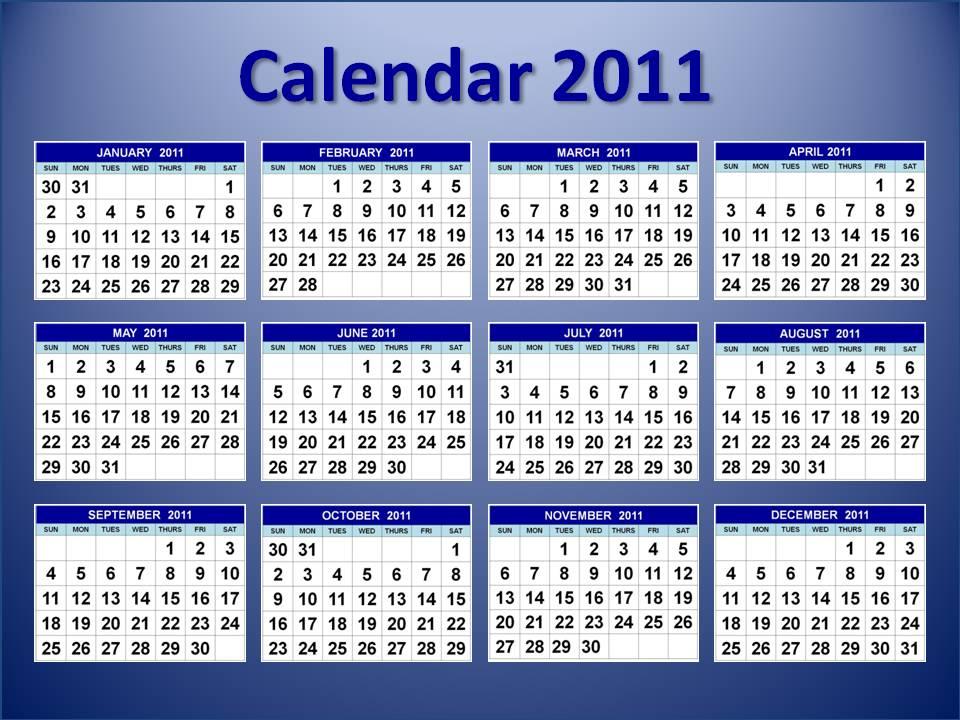 onlinestorecb: 2011 calendar january to december